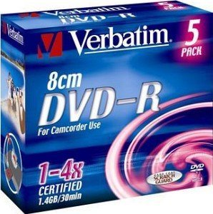 Verbatim DVD-R 1.4GB 4x, 5er Jewelcase (43510)