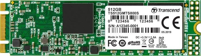 Transcend M.2 SSD 800S 512GB, M.2 (TS512GMTS800S)