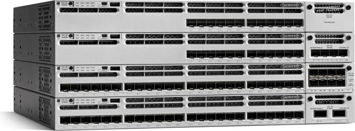 Cisco Catalyst 3850 LAN Base Rackmount Gigabit Managed Stack Switch, 24x RJ-45, 1x Modul-Slot, 800W UPoE (WS-C3850-24U-L)