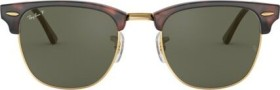 Ray-Ban RB3016 Clubmaster Classic 49mm gloss tortoise/green classic (RB3016-990/58)