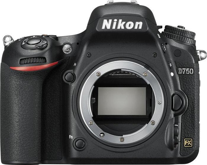 Nikon D750 black with third-party manufacturer lens
