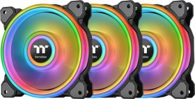 Thermaltake Riing Quad 12 RGB radiator Fan TT Premium Edition, 120mm, 3-pack, LED control (CL-F088-PL12SW-A)
