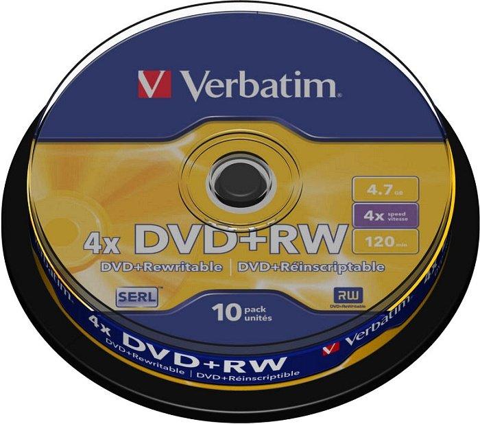 Verbatim DVD+RW 4.7GB 4x, 10er Spindel (43488)
