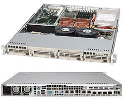 Supermicro 813S-500CB black, 1U, 500W