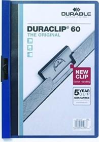Durable Duraclip 60 Klemm-Mappe A4, dunkelblau (220907)
