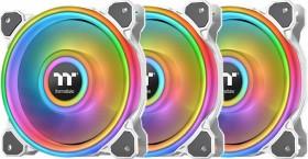 Thermaltake Riing Quad 14 RGB radiator Fan TT Premium Edition Snow white, 140mm, 3-pack, LED control (CL-F101-PL14SW-A)