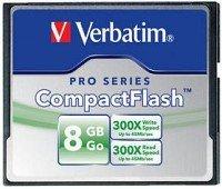 Verbatim CompactFlash Card (CF) Pro 8GB (47018)