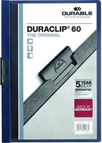 Durable Duraclip 60 Klemm-Mappe A4, nachtblau (220928)