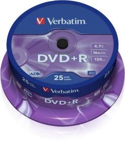 Verbatim DVD+R 4.7GB 16x, 25-pack Spindle (43500)