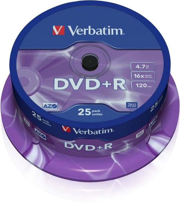 Verbatim DVD+R 4.7GB 16x, 25er Spindel (43500)