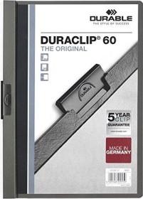 Durable Duraclip 60 Klemm-Mappe A4, anthrazit (220957)