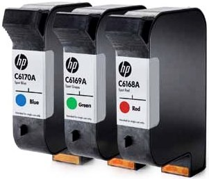 HP C6168A Printhead with ink Spot colour red