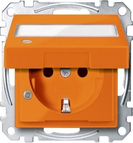 Merten System M SCHUKO-Steckdose, orange (MEG2313-0302)