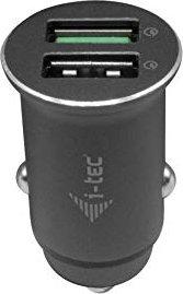 i-tec car Charger 2x USB QC 3.0 36W black (CHARGER-CAR2QC)