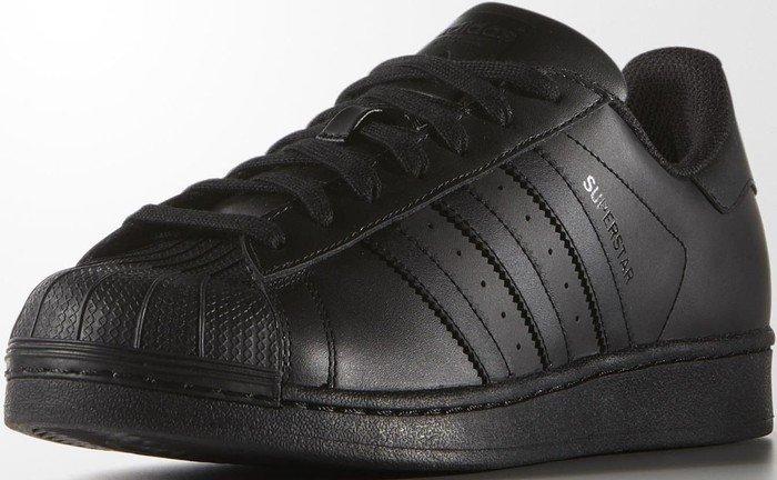 adidas Originals Unisex-Erwachsene Superstar Niedrig Schwarz (Core Black/Core Black/Core Black) 44 EU