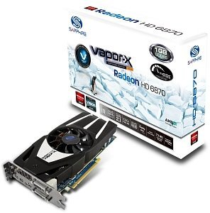 Sapphire Vapor-X Radeon HD 6870, 1GB GDDR5, 2x DVI, HDMI, 2x mini DisplayPort, full retail (11179-07-40G)
