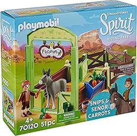 playmobil Spirit - Riding Free - Pferdebox Snips & Herr Karotte (70120)