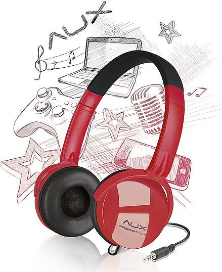 Speedlink AUX - Freestyle stereo headset black/red (SL-8752-BKRD)
