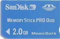 SanDisk Memory Stick (MS) Pro Duo 2GB (SDMSPD-2048-E10) -- © SanDisk