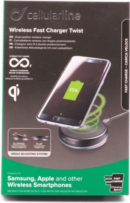 Cellularline Wireless Fast Charger Twist schwarz (WIRELESSTWISTK) -- via Amazon Partnerprogramm