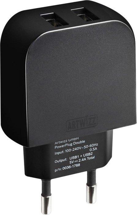 Artwizz PowerPlug Double schwarz (0036-1768)