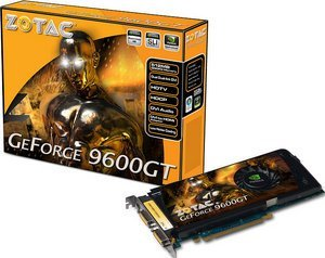 Zotac GeForce 9600 GT,  512MB DDR3, 2x DVI, TV-out (ZT-96TES3P-FSP)