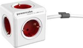 allocacoc/Segula PowerCube Extended white/red schuko plug (1306RD/DEEXPC)