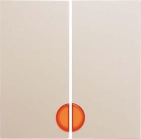 Berker S.1 Wippe 2fach mit roter Linse, weiß glänzend (16278982)