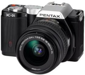 Pentax K-01 schwarz mit Objektiv DA L 18-55mm und DA L 50-200mm (15273)