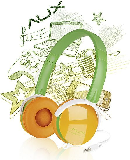 Speedlink AUX - Freestyle stereo headset green/orange (SL-8752-GNOE)