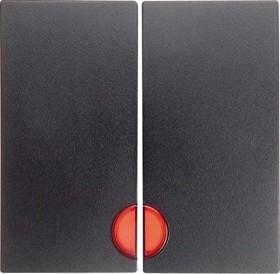 Berker S.1 Wippe 2fach mit roter Linse, anthrazit matt (16271606)