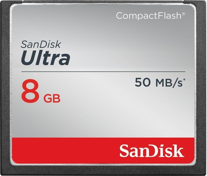 SanDisk CompactFlash Card [CF] Ultra 50MB/s 8GB (SDCFHS-008G-G46)