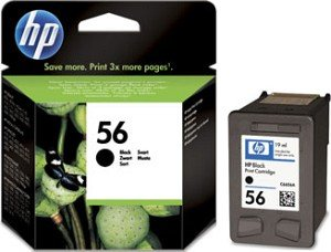 HP Printhead with ink Nr 56 black 19ml (C6656AE)