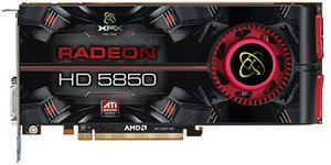 XFX Radeon HD 5850 725M AMD-Design, 1GB GDDR5, 2x DVI, HDMI, DisplayPort (HD-585A-ZNFC)