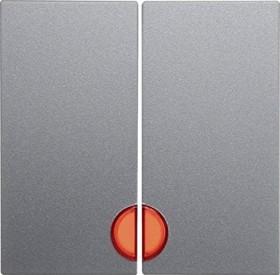 Berker S.1 Wippe 2fach mit roter Linse, alu matt (16271404)