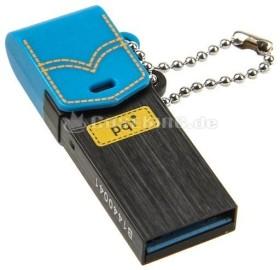 PQI Connect 301 blau 8GB, USB-A 3.0/USB 2.0 Micro-B (6001-008GR1001)