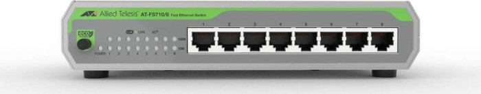 Allied Telesis CentreCOM FS710 desktop switch, 8x RJ-45, AC-Version (AT-FS710/8)