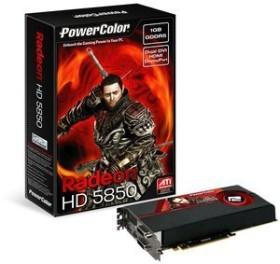PowerColor Radeon HD 5850, 1GB GDDR5, 2x DVI, HDMI, DP (AX5850 1GBD5-MDH/R87FE-PI4)