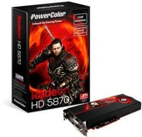 PowerColor Radeon HD 5870, 1GB GDDR5, 2x DVI, HDMI, DP (AX5870 1GBD5-MDH/A87F-TI4)