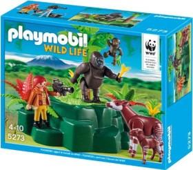 playmobil Wild Life WWF - WWF-Zoologin bei Okapis und Gorillas (5273)