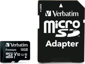 Verbatim microSDHC 16GB Kit, Class 10 inkl. SD-Adapter (44082)