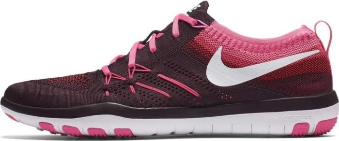 6910da1bd9f8 Nike Free TR Focus Flyknit burgundy pink blast white (ladies) (844817