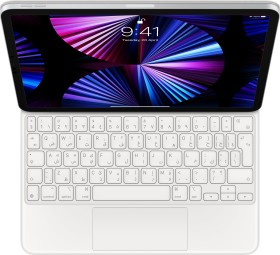 """Apple Magic Keyboard, KeyboardDock für iPad Pro 11"""", weiß, AE [2021] (MJQJ3AB/A)"""