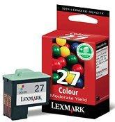 Lexmark Druckkopf mit Tinte 27 dreifarbig hohe Kapazität (010NX227E)