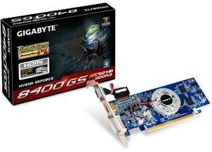 Gigabyte GeForce 8400 GS Turbocache, 512MB DDR3, VGA, HDMI, DVI (GV-N84STC-512I)
