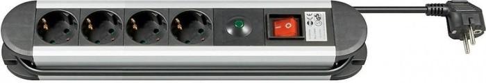 Goobay Steckdosenleiste 4-fach mit Überspannungsschutz, 1.4m (93000)
