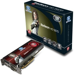Sapphire Radeon HD 5870, 1GB GDDR5, 2x DVI, HDMI, DisplayPort, full retail (21161-00-50R/21161-00-54R)