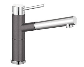 Blanco Alta-S Compact HD rock grey/chrome (518809)