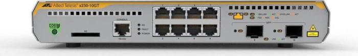 Allied Telesis x230 desktop Gigabit Managed switch, 8x RJ-45, 2x SFP (AT-X230-10GT)