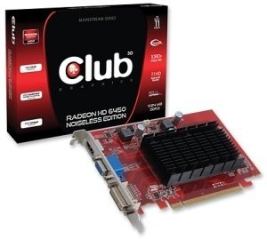 Club 3D Radeon HD 6450 noiseless Edition, 1GB DDR3, VGA, DVI, HDMI (CGAX-64524I)